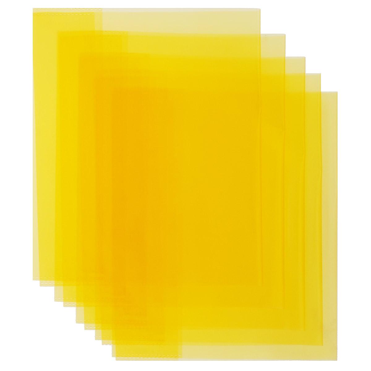 Набор обложек для тетрадей и дневников Action, цвет: желтый, 21 см х 34,6 см, 5 штABC010/5_C40316_желтыйНабор обложек для тетрадей и дневников Action предназначены для защиты тетрадей, дневников от пыли, грязи и механических повреждений. С прозрачными клапанами. Рекомендовано для детей старше трех лет.