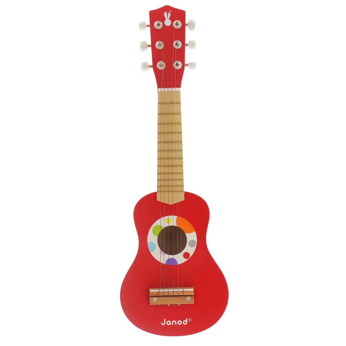 Janod Гитара цвет красный купить дублета плюс