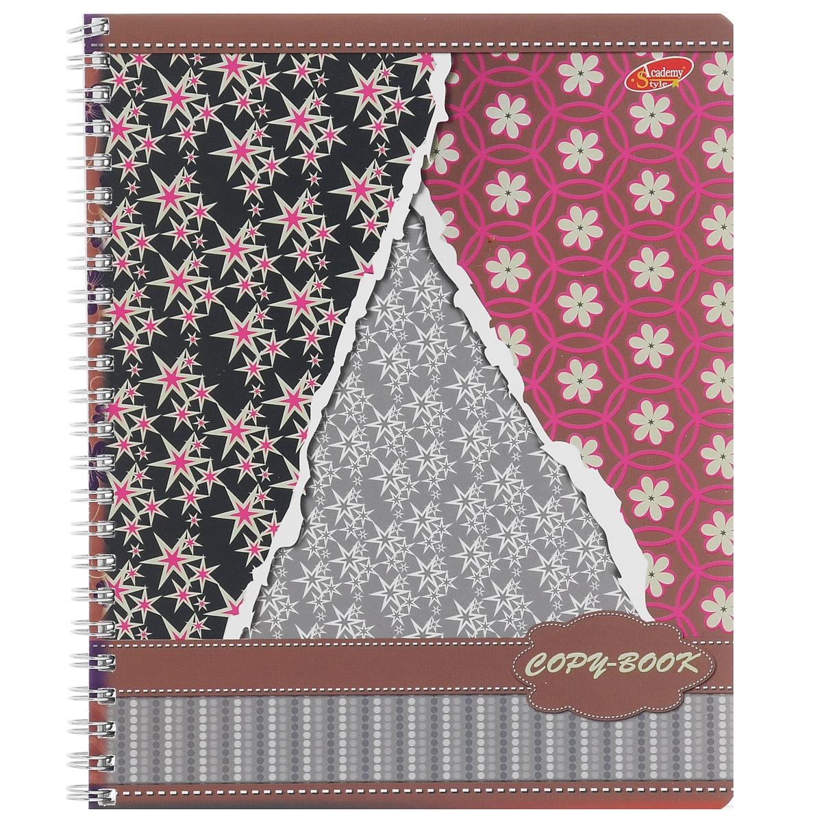 Тетрадь Обои, 80 листов, формат А5. 6590/3_коричневый48Т5B1_14158Тетрадь в клетку Обои с красочным изображением на обложке подойдет как школьнику, так и студенту. Обложкатетради с закругленными углами выполнена из мелованного картона. Внутренний блок состоит из 80 листов белой бумаги со стандартной линовкой в клетку, без полей.