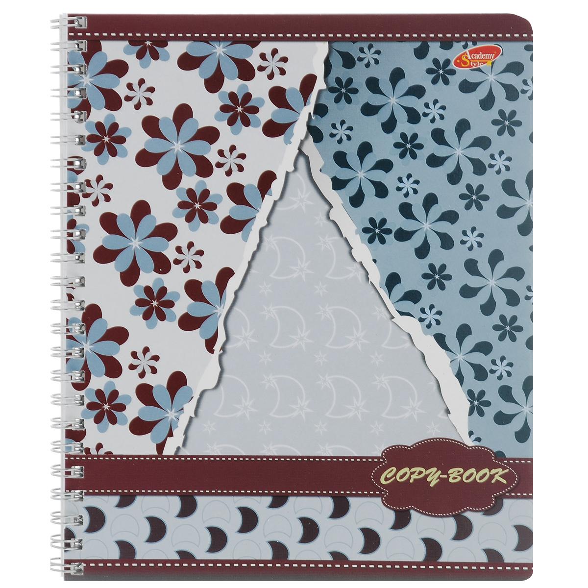 Тетрадь Обои, 80 листов, формат А5. 6590/3_серо-голубой6590/3_Серо-голубойТетрадь в клетку Обои с красочным изображением на обложке подойдет как школьнику, так и студенту. Обложкатетради с закругленными углами выполнена из мелованного картона. Внутренний блок состоит из 80 листов белой бумаги со стандартной линовкой в клетку, без полей.