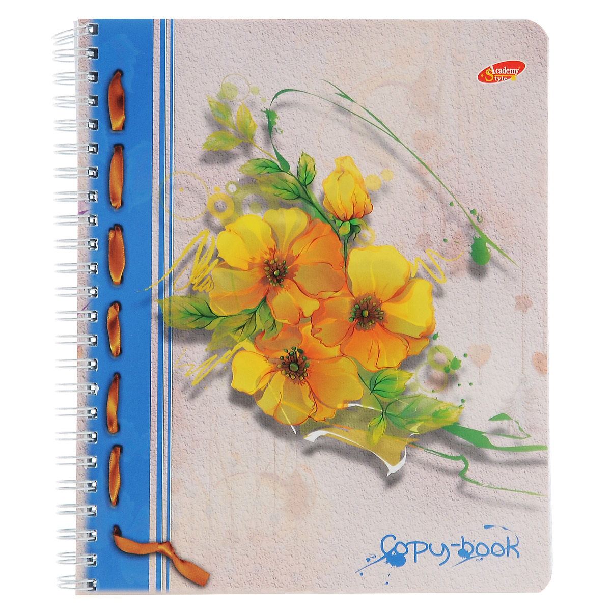 Тетрадь Желтые цветы, цвет: серый, желтый, 96 листов96Т5B1_оранжеваяТетрадь Желтые цветы с красочным изображением на обложке подойдет для выполнения любых работ.Обложка тетради с закругленными углами изготовлена из мелованного картона. Внутренний блок тетради на гребне состоит из 96 листов качественной белой бумаги. Все листы расчерчены в клетку без полей.