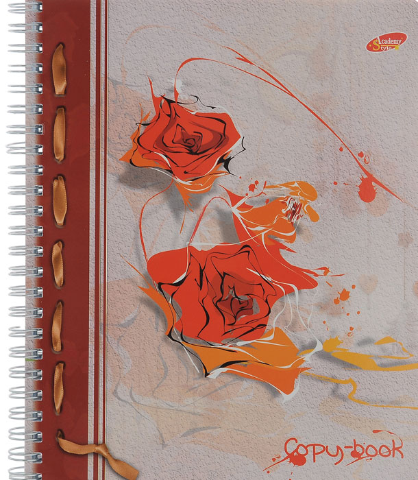 Тетрадь Розы с красочным изображением на обложке подойдет для выполнения любых работ.  Обложка тетради с закругленными углами изготовлена из мелованного картона. Внутренний блок тетради на гребне состоит из 96 листов качественной белой бумаги. Все листы расчерчены в клетку без полей.
