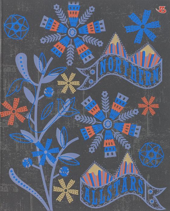Тетрадь Seventeen Northern, цвет: серый, синий, 60 листов72523WDТетрадь Seventeen Northern с красочным изображением на обложке подойдет для выполнения любых работ.Обложка тетради с закругленными углами изготовлена из мелованного картона. Внутренний блок тетради состоит из 60 листов высококачественной бумаги повышенной белизны. Стандартная линовка в клетку дополнена полями, совпадающими с лицевой и оборотной стороны листа.