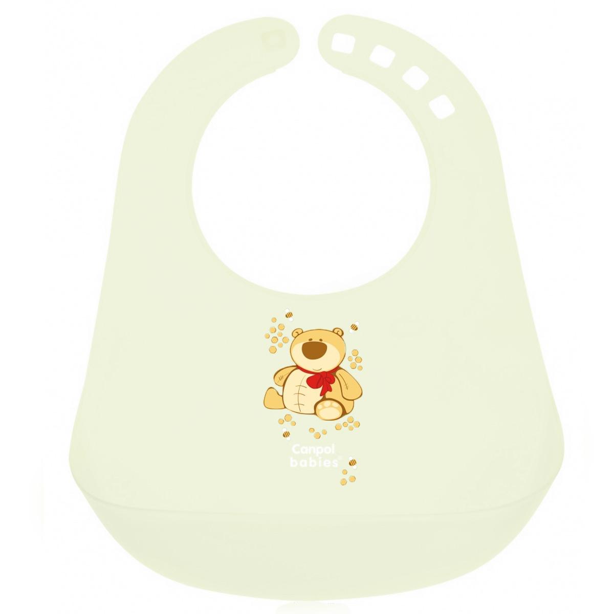 Canpol Babies Слюнявчик пластиковый цвет зеленый -  Все для детского кормления