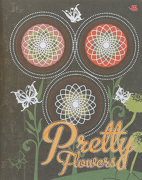 Тетрадь Pretty Flowers, 60 листов, формат А5, цвет: зеленый35450Тетрадь в клетку Pretty Flowers с красочным изображением на обложке подойдет как студенту, так и школьнику. Обложка тетради с закругленными углами выполнена из картона и дополнена тиснением фольгой серебряного цвета. Внутренний блок состоит из 60 листов белой бумаги. Стандартная линовка в клетку дополнена полями, совпадающими с лицевой и оборотной стороны листа.