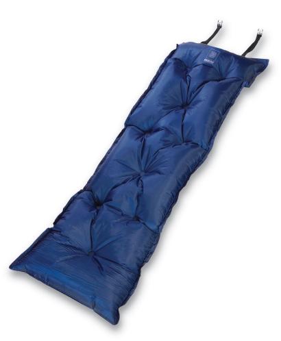 Коврик самонадувающийся Wanderlust Magic Air 25, цвет: синий, 188 см х 55 см х 2,5 см915437Самонадувающийся туристический коврик Wanderlust Magic Air 25 предназначен для теплоизоляции, например, между почвой и телом лежащего человека, а также для предохранения спального мешка от повреждений и влаги. Надувная подушка увеличит комфорт при длительном отдыхе. Очень простой в использовании, легко и быстро надувается, компактный и легкий. Имеется специально разработанный мощный клапан с высокой пропускной способностью, что позволяет коврику быстро наполняться воздухом или сдуваться. Для того, чтобы надуть коврик, просто откройте клапан, через пару минут коврик расправится и закройте клапан. Коврик готов к использованию! Он не даст вам замерзнуть и сделает отдых более комфортным даже на корнях или на камнях. Изделие отличается прочностью и износостойкостью.В комплекте есть мешок-чехол для переноски и хранения.