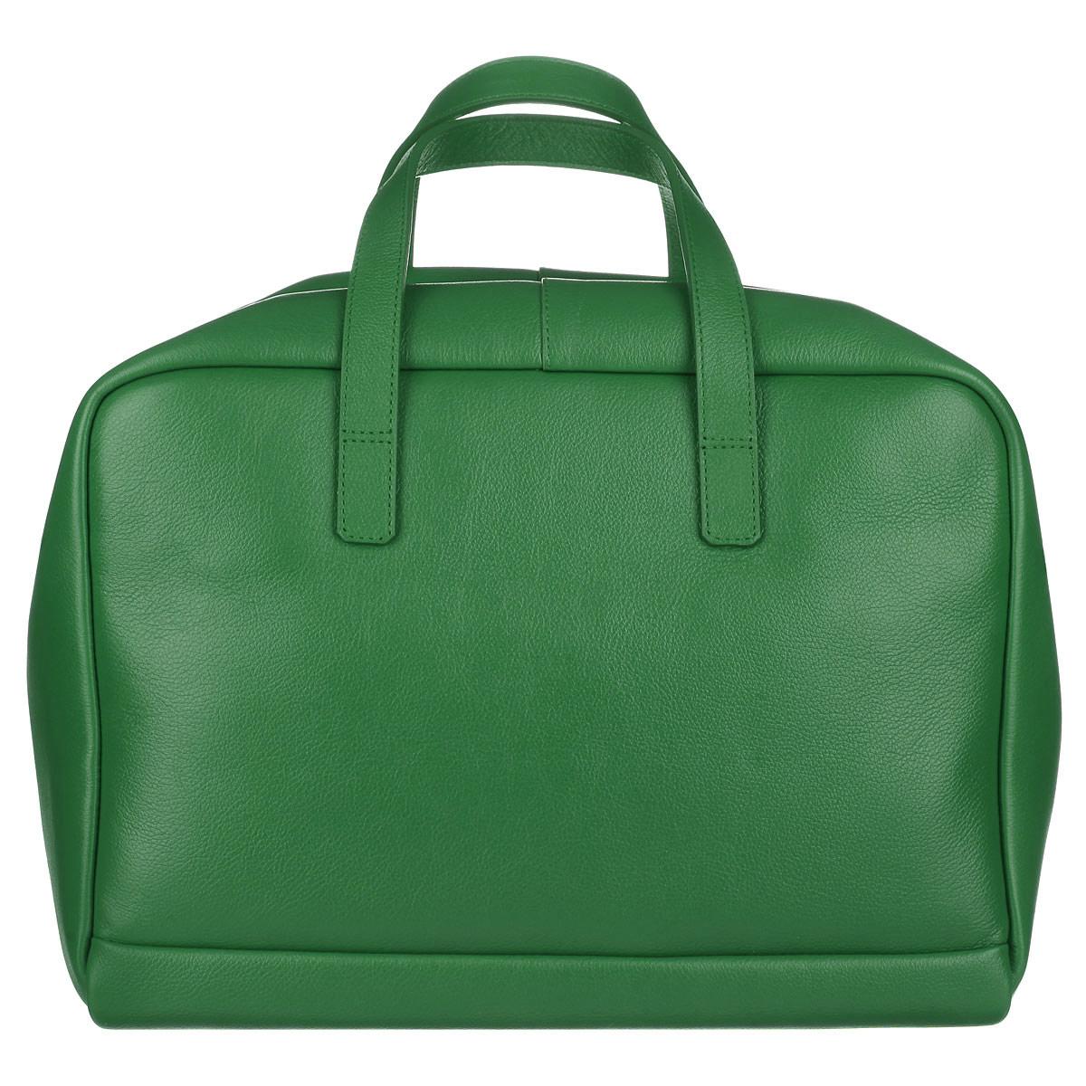 Сумка женская Fabula, цвет: зеленый. S.143.FP23008Современная вместительная женская сумка Fabula из коллекции Every day выполнена из натуральной кожи. Эта модель понравится практичным модницам. Здесь стиль и функциональность превосходно сочетаются и гармонично завершают практически любой образ. Закрывается сумка на застежку-молнию. Внутри основное отделение содержит четыре боковых нашивных кармана для телефона, документов и различных мелочей. Сумка оснащена ручками для ношения в руке или сгибе локтя. В комплекте ручка-ремень. Такая стильная и в то же время, элегантная сумка - станет идеальным дополнением к вашему образу!Ширина сумки - 30 см, высота - 22 см, ширина боковой стенки - 18,5 см.