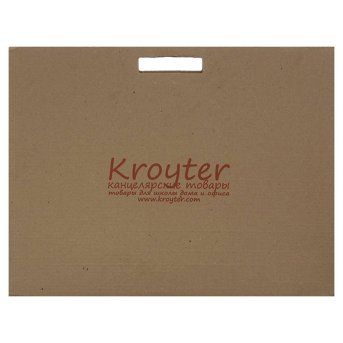 Папка для акварели Kroyter, 10 листов, формат А272523WDПапка для акварели Kroyter поможет овладеть этой техникой живописи. Бумага предназначена для рисования всеми видами водорастворимых красок, а также подойдет для рисования и художественно-графических работ карандашами, ручками и мелками. Не рекомендуется для масляных красок. Листы рекомендованы для массового использования, так как не предъявляет специальных знаний при ее использовании.Обложка выполнена из гофрированного картона в виде папки переноски с ручками. Такой вариант позволяет переносить бумагу без повреждений.Плотность: 180 г/м2.
