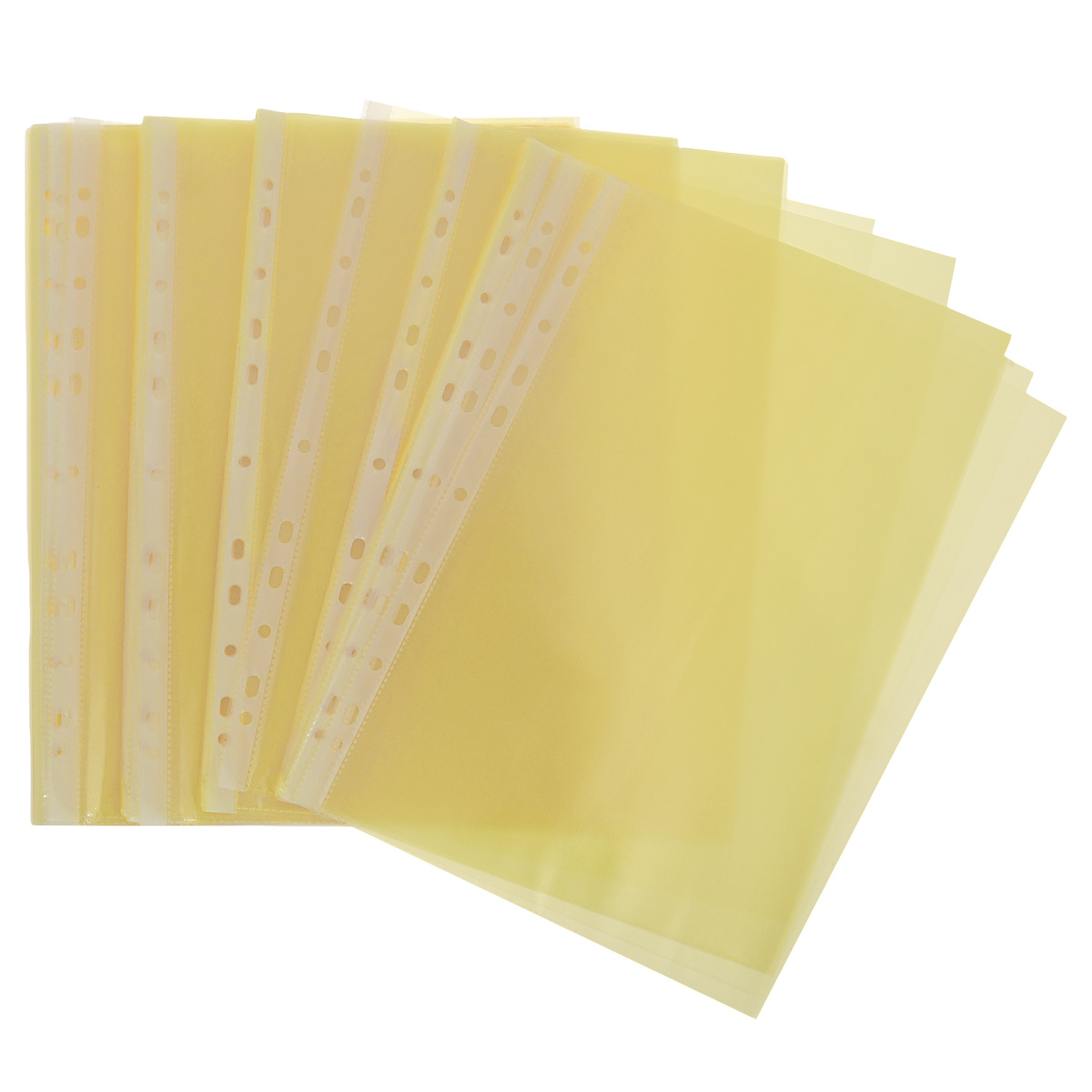 Файл-вкладыш Erich Krause Clear Standard, цвет: желтый, формат А4, 100 шт6792_желтыйПрозрачный перфофайл Erich Krause Clear Standard обеспечивает сохранность листов, надежно защищая документы от грязи и пыли. Используется для подшивки бумаг формата А4 в архивные папки без дополнительного перфорирования дыроколом. Изготовлен из высококачественной прозрачной полипропиленовой пленки с фактурной поверхностью и снабжен универсальной боковой перфорацией, совместимой со всеми видами кольцевых механизмов и скоросшивателей.Комплект содержит 100 файлов-вкладышей.Размер файла: 21 см х 29,7 см.