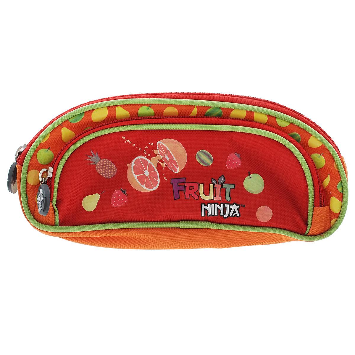 Пенал Action! Fruit Ninja, цвет: оранжевый72523WDПенал Action! Fruit Ninja станет не только практичным, но и стильным школьным аксессуаром для любого малыша. Он оформлен в стиле знаменитой игры Fruit Ninja.Пенал выполнен из прочного полиэстера и состоит из одного вместительного отделения, закрывающегося на застежку-молнию. На лицевой стороне пенала расположен накладной карман на застежке-молнии. Пенал оформлен красочными изображениями сочных фруктов.Такой пенал станет незаменимым помощником для школьника, с ним ручки и карандаши всегда будут под рукой и больше не потеряются.