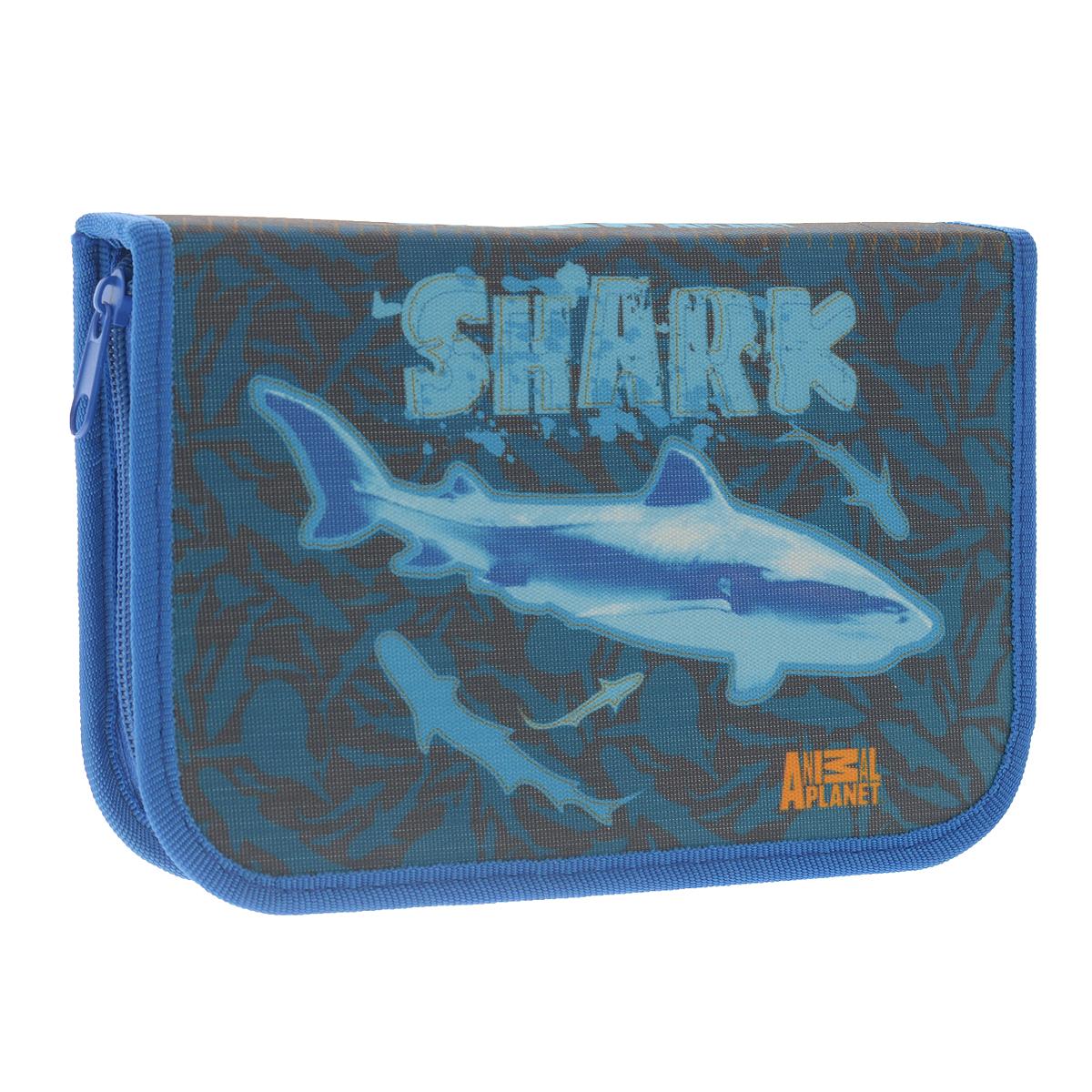 Пенал Action! Animal Planet: Shark, цвет: синий72523WDПенал Action! Animal Planet: Shark состоит из одного вместительного отделения, закрывающегося на застежку-молнию.Пенал предназначен специально для школьников, в нем можно хранить все письменные принадлежности.