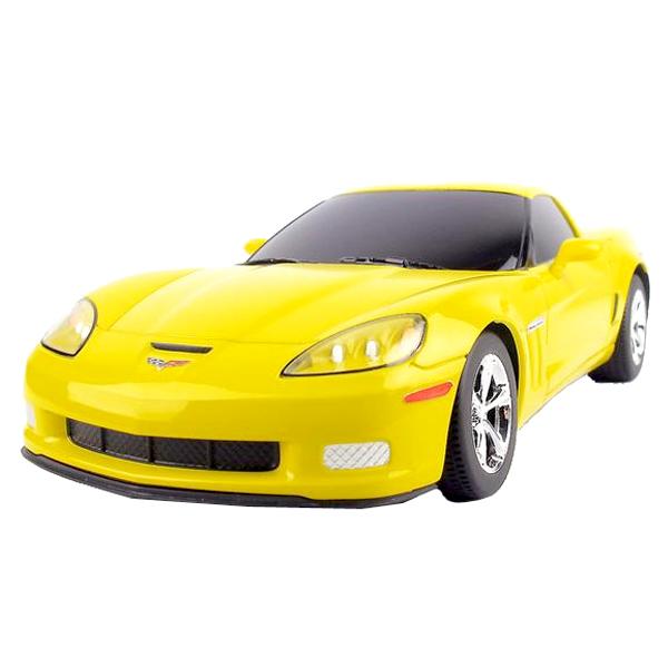 Радиоуправляемая машина Chevrolet C6 GS работает от аккумулятора. Аккумулятор и зарядное устройство идут в комплекте.