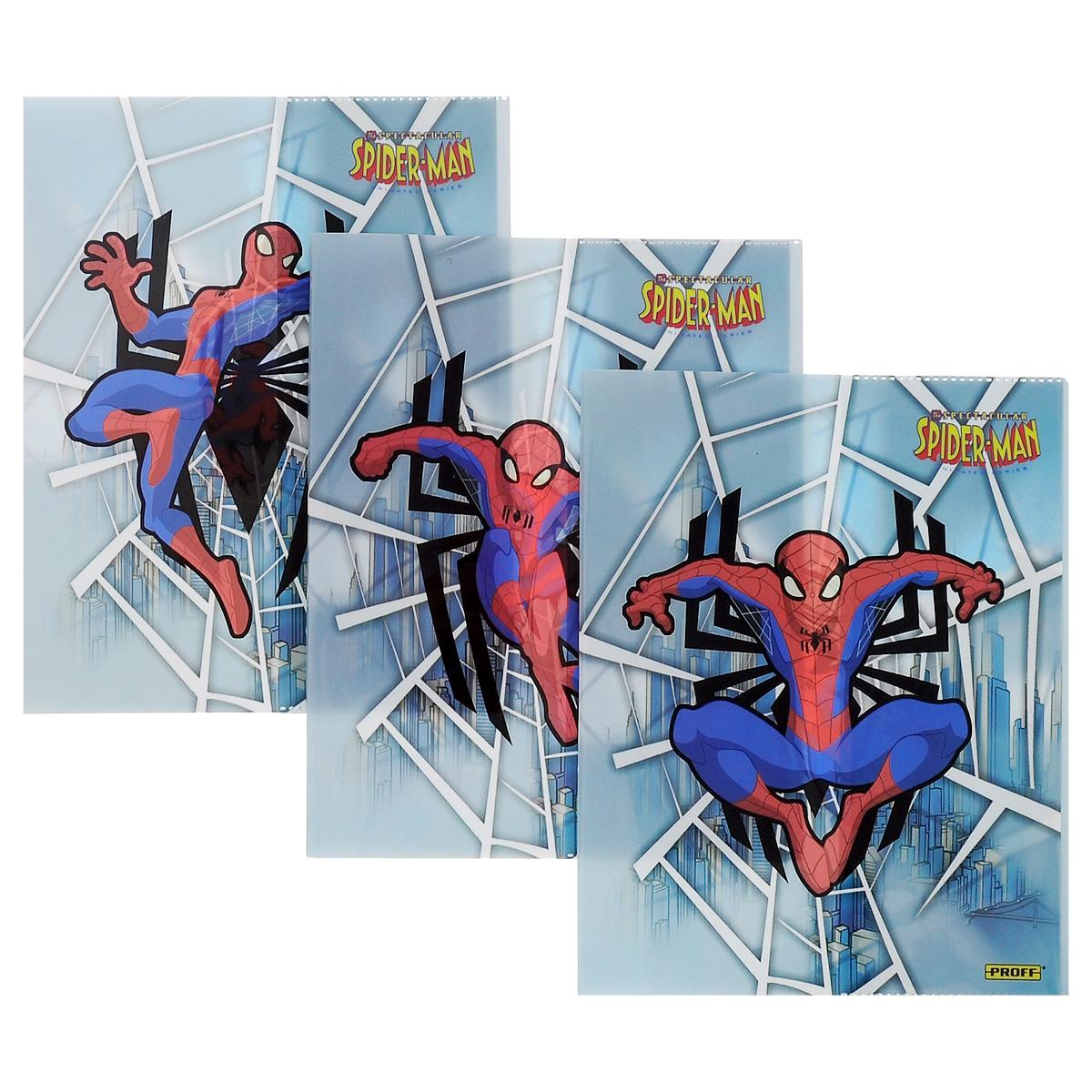 Прочная обложка Proff Spider-Man, изготовленная из ПВХ, защитит поверхность тетради или дневника от изнашивания и загрязнений. Изделие оформлено ярким изображением любимого супергероя.