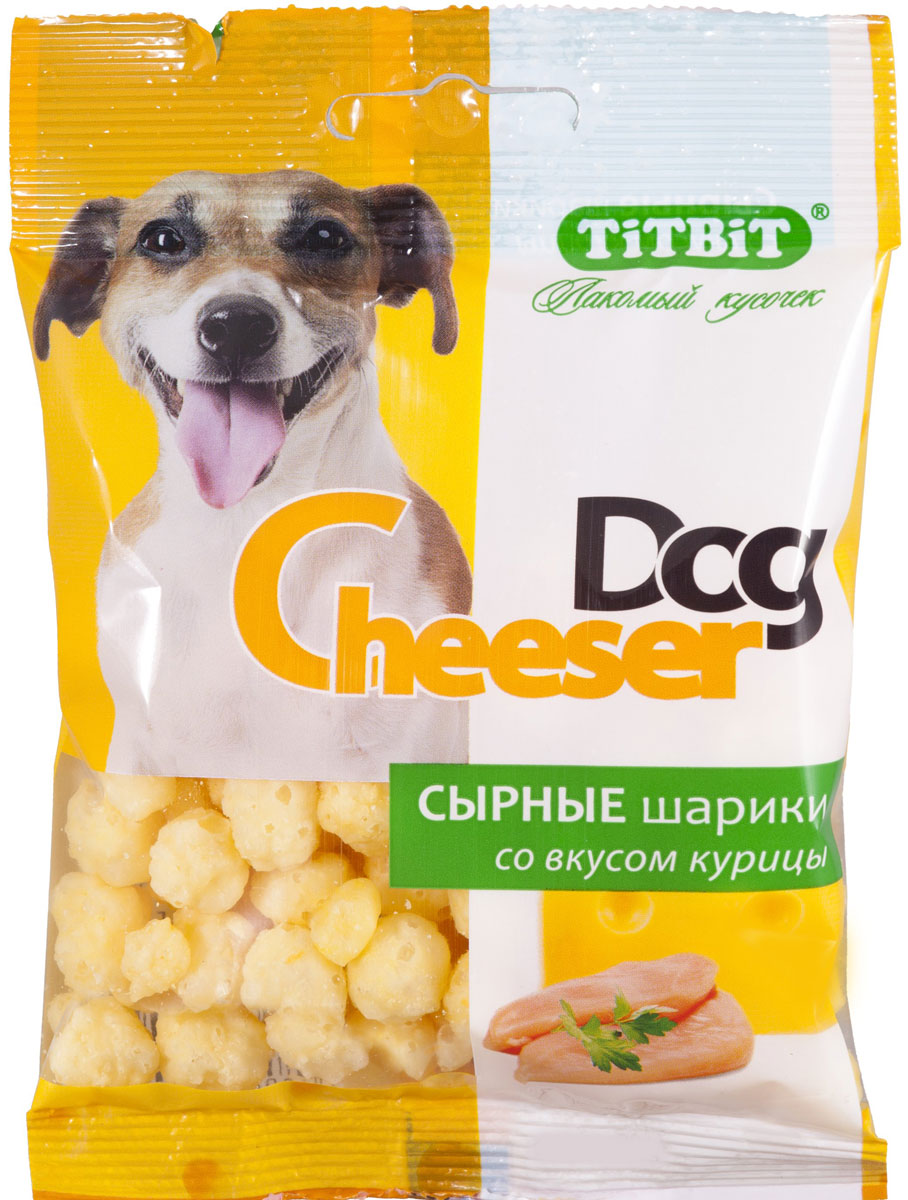 Лакомство для собак Titbit CheeserDog, сырные шарики со вкусом курицы, 30 г0120710Для производства используется 100% натуральный полутвердых сыр. Без консервантов и искусственных красителей. Рекомендуемая норма потреблений 10% от суточного рациона собак старше 12 месяцев. Необходимо обеспечить питомцу постоянный доступ к питьевой воде. Состав: сыр сычужный полутвердый, вкусоароматическая добавка курица.