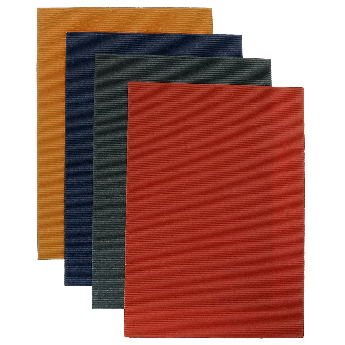 Набор цветного гофрированного картона Бриз, перламутровый, 4 листа. 1126-50137212Набор гофрированного цветного картона Бриз отлично подойдет для создания эффектных и фактурных объемных панно. Набор состоит из четырех листов формата А4 цветного перламутрового картона: желтого, синего, красного и зеленого цветов. Каждый лист состоит из одного плоского слоя белого цвета и одного гофрированного слоя. Набор упакован в яркую картонную папку. Создание поделок из цветного картона - это увлекательный досуг, который позволяет ребенку развивать творческие способности.