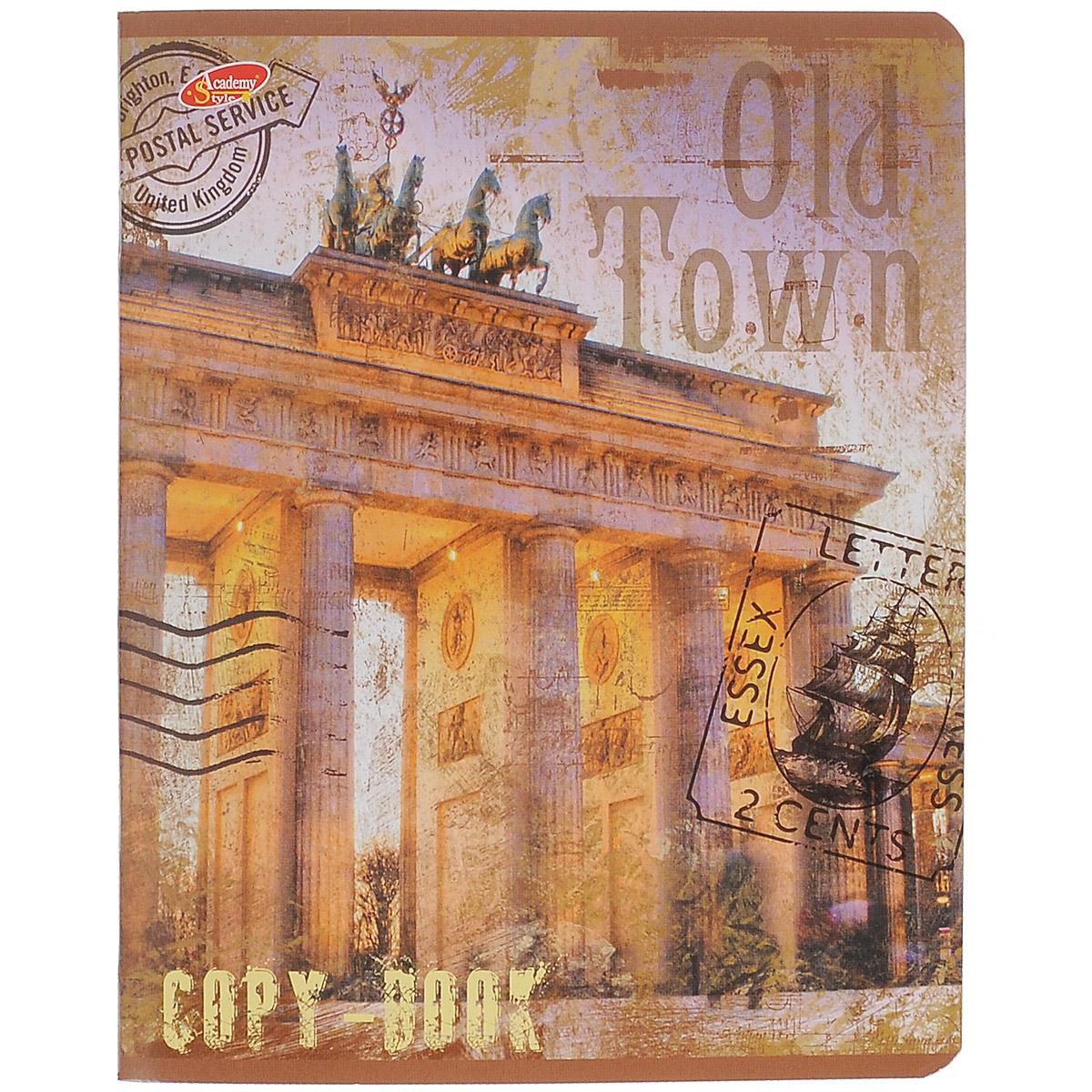 Тетрадь Old Town, 80 листов, формат А5, цвет: коричневый. Вид 172523WDТетрадь в клетку Old Town с красочным изображением на обложке подойдет как студенту, так и школьнику. Обложка тетради с закругленными углами выполнена из картона. Внутренний блок состоит из 80 листов белой бумаги. Стандартная линовка в клетку дополнена полями, совпадающими с лицевой и оборотной стороны листа.