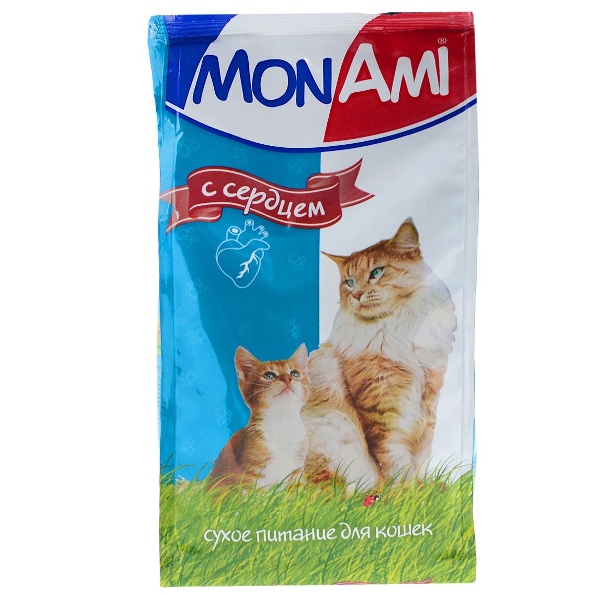 Корм сухой для кошек Mon Ami, с сердцем, 400 г1857Сухой корм для кошек Mon Ami - это полноценное сбалансированное питание для кошек, разработанное с использованием современных технологий. Особенности рациона: Необходимое сочетание ингредиентов для достижения правильной усвояемости питательных веществ организмом. Источник линолевой кислоты и правильного уровня витаминов группы В благотворно влияют на кожу и шерсть. Состав: злаки, экстракт белка растительного происхождения, мясо и продукты животного происхождения (в т.ч. сердце), подсолнечное масло, минеральные добавки, пульпа сахарной свеклы (жом), витамины, пивные дрожжи, антиоксидант. Анализ: сырой протеин 30%, сырой жир 10%, сырая зола 7%, сырая клетчатка 2,5%, влажность 10%, фосфор 0,9%, кальций 1,05%, витамин А 5000 МЕ/кг, витамин Д 500 МЕ/кг, витамин Е 30 мг/кг. Энергетическая ценность: 333 ккал/100 г. Товар сертифицирован.