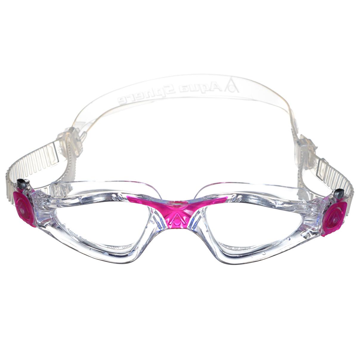 Очки для плавания Aqua Sphere Kayenne Lady, цвет: прозрачный, розовый296Модные и стильные очки для плавания Aqua Sphere Kayenne Lady идеально подходят для плавания в бассейне или открытой воде. Оснащены линзами с антизапотевающим покрытием, которые устойчивы к появлению царапин. Мягкий комфортный обтюратор плотно прилегает к лицу.Запатентованные изогнутые линзы дают прекрасный обзор на 180° - без искажений. Рамка имеет гидродинамическую форму. Очки оснащены удобными быстрорегулируемыми пряжками.Материал: софтерил, plexisol.