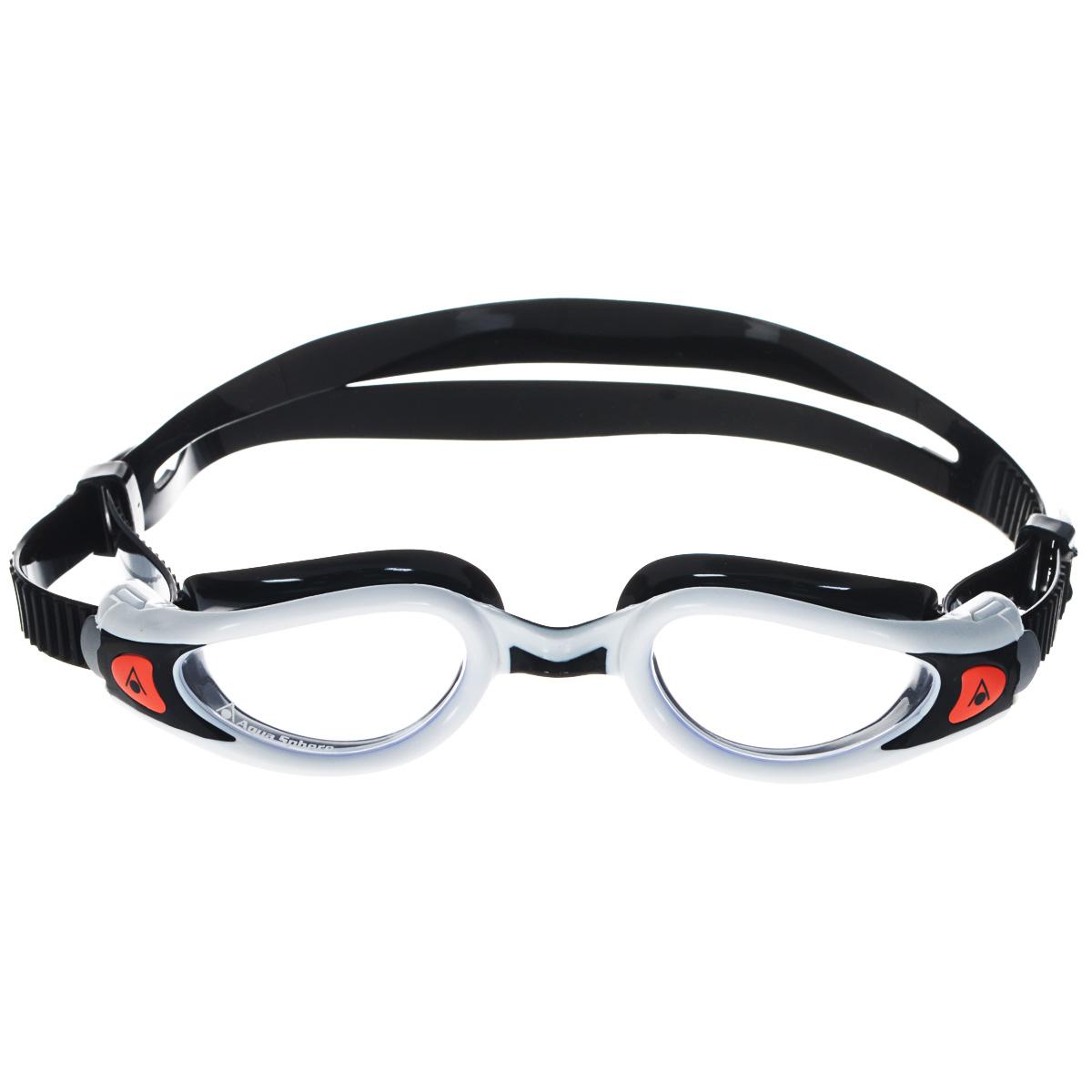 Очки для плавания Aqua Sphere Kaiman Exo Lady, цвет: белый, черныйTN 175710Модные и стильные очки Kaiman Exo Lady идеально подходят для плавания в бассейне или открытой воде. Особая технология изогнутых линз позволяет обеспечить превосходный обзор в 180°, не искажая при этом изображение. Очки дают 100% защиту от ультрафиолетового излучения. Специальное покрытие препятствует запотеванию стекол. Новая технология каркаса EXO-core bi-material обеспечивает максимальную стабильность и комфорт.Материал: софтерил, plexisol.