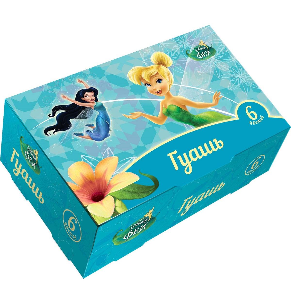 Disney Fairies Гуашь Феи 6 цветовFS-00103В наборе Disney. Феи 6 насыщенных цветов гуаши в прозрачных баночках по 17 мл с завинчивающимися крышками.Краска идеально подходит для рисования на бумаге, картоне, холсте, ткани и фанере: она хорошо размывается водой, легко наносится, при высыхании приобретает матовую, бархатистую поверхность. Гуашь легко смывается с рук и одежды, безопасна при использовании по назначению.