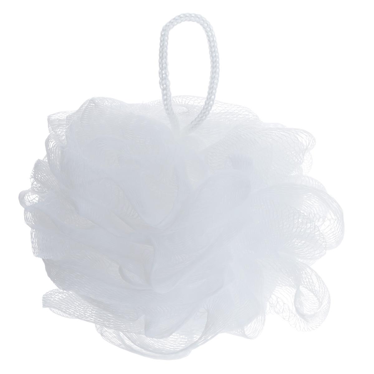 Riffi Мочалка-губка Массажный цветок, средняя, цвет: белый. 343 riffi повязка для волос цвет коралловый