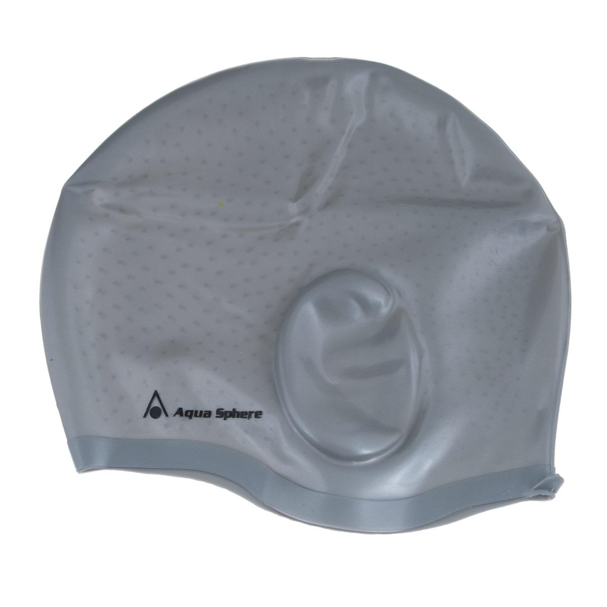 Шапочка для плавания Aqua Sphere Aqua Glide, цвет: серебристый3B254Анатомическая силиконовая шапочка Aqua Sphere Aqua Glide выполнена из высококачественного гипоаллергенного силикона. Специальные ушные карманы уменьшают давление шапочки на уши и предотвращают ее соскальзывание. Пупырчатая внутренняя поверхность также препятствует соскальзыванию. Шапочка обеспечивает 100% защиту от ультрафиолетового излучения.