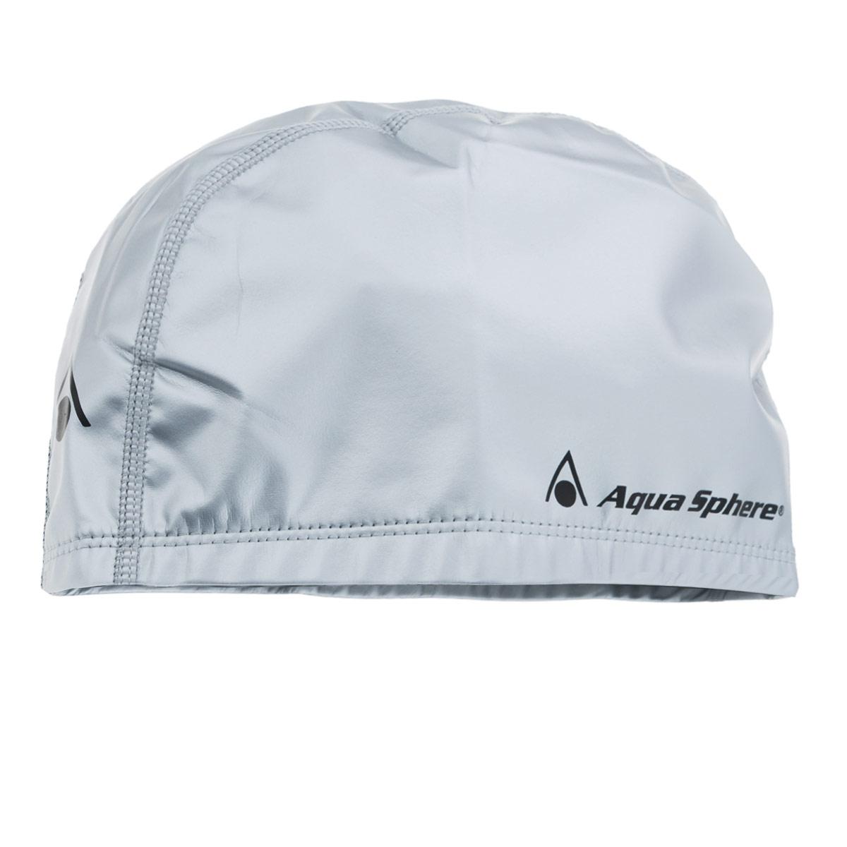 Шапочка для плавания Aqua Sphere Aqua Speed, цвет: серебристыйSP 20922N(945633)Плавательная шапочка Aqua Sphere Aqua Speed выполнена из двухкомпонентного материала. Мягкий эластичный материал внутри для максимального комфорта (90% полиэстер) и герметичный высокопрочный материал снаружи (10% резина).