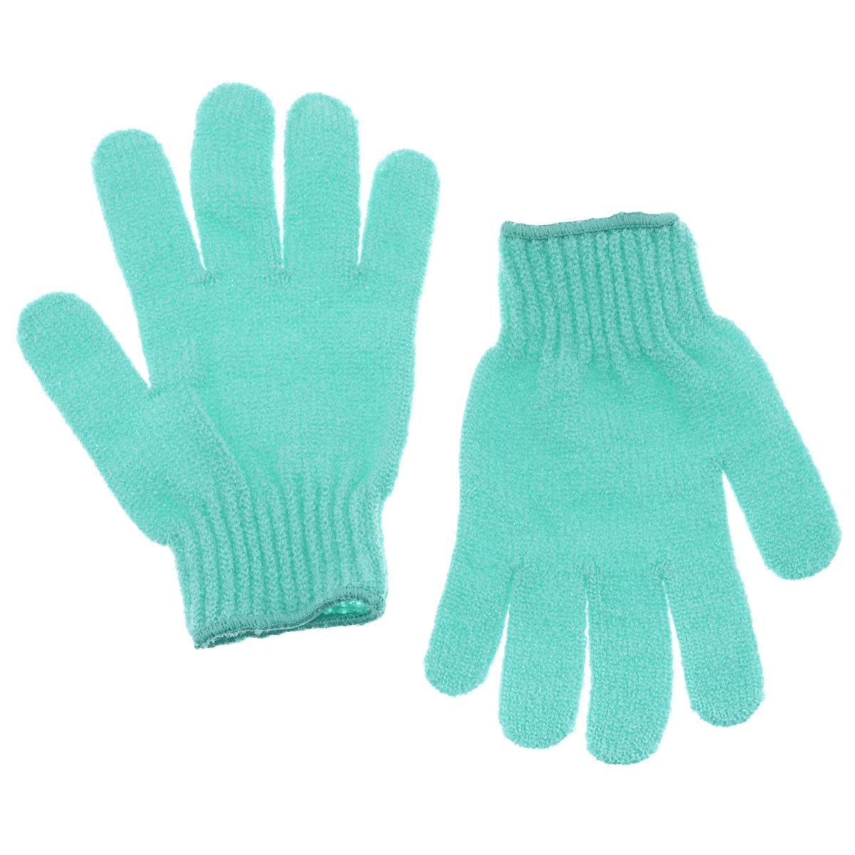 Riffi Перчатки для пилинга, цвет: светло-зеленый5010777139655Эластичные безразмерные перчатки Riffi обладают активным антицеллюлитным эффектом и отличным пилинговым действием, тонизируя, массируя и эффективно очищая вашу кожу. Riffi освобождает кожу от отмерших клеток, стимулирует регенерацию. Эффективно предупреждают образование целлюлита и обеспечивают омолаживающий эффект. Кожа становится гладкой, упругой и лучше готовой к принятию косметических средств. Интенсивный и пощипывающе свежий массаж тела с применением Riffi стимулирует кровообращение, активирует кровоснабжение, способствует обмену веществ. В комплекте 1 пара перчаток. Характеристики:Материал: 100% полиакрил. Размер перчатки (в нерастянутом виде): 17,5 см x 12,5 см. Артикул:615.