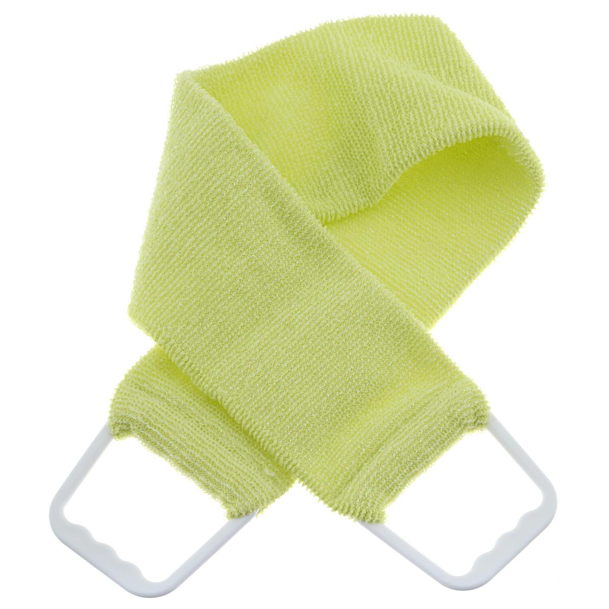 Мочалка 927, цвет: желтый1092018Двухсторонняя мочалка-пояс Riffi применяется для мытья тела, отлично действует как пилинговое средство, тонизируя, массируя и эффективно очищая вашу кожу. Мягкой стороной хорошо намыливать тело и наносить косметические средства после душа. Жесткую (с люрексом) сторону пояса используют для легкого пилинга и массажа кожи. Для удобства применения пояс снабжен двумя пластиковыми ручками. Благодаря отшелушивающему эффекту мочалки-пояса, кожа освобождается от отмерших клеток, становится гладкой, упругой и свежей. Интенсивный и пощипывающе свежий массаж тела с применением Riffi стимулирует кровообращение, активирует кровоснабжение, способствует обмену веществ, что в свою очередь позволяет себя чувствовать бодрым и отдохнувшим после принятия душа или ванны. Riffi регенерирует кожу, делает ее приятно нежной, мягкой и лучше готовой к принятию косметических средств. Приносит приятное расслабление всему организму. Борется со спазмами и болями в мышцах, предупреждает образование целлюлита и обеспечивает омолаживающий эффект. Гипоаллергенная.