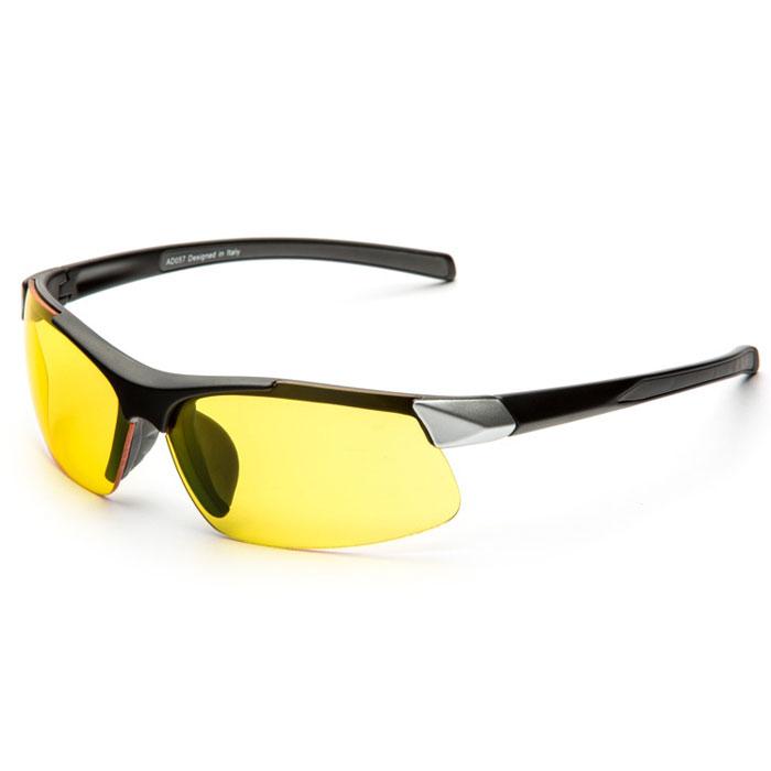 SP Glasses AD057 Premium, Black Silver водительские очкиINT-06501SP Glasses AD057 Premium - релаксационные комбинированные очки для активного отдыха с желтым светофильтром. Они улучшают видимость, повышают контрастность в вечернее и ночное время, туман, дождь, а также защищают от ослепления фарами встречных автомобилей. Отлично показывают себя в условиях плохой видимости.Наносники: нерегулируемые