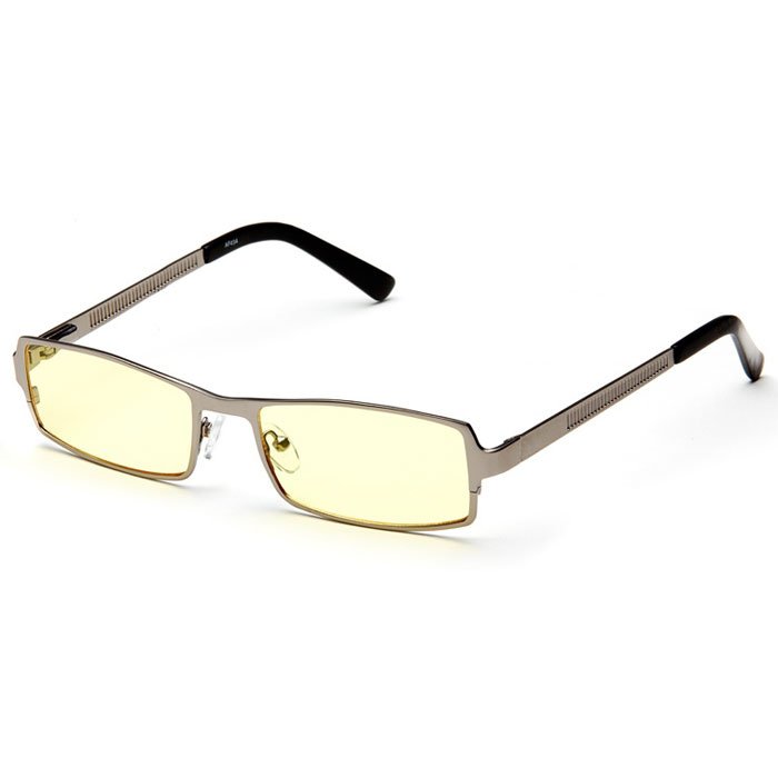 SP Glasses AF034 Luxury, Dark Grey компьютерные очкиINT-06501SP Glasses AF034 Luxury - компьютерные очки с желтыми линзами, которые предназначены для защиты глаз от вредного излучения мониторов, ноутбуков, игровых приставок, электронных книг, телевизоров. Их линзы изготовлены из качественного прочного пластика и оснащены специальными светофильтрами, позволяющими не перенапрягать глаза при длительной работе за компьютером и с другими подобными устройствами с дисплеями и мониторами. Очки эффективно уменьшают слезоточивость и резь в глазах, снижают утомляемость. Также их можно использовать для защиты глаз от света люминесцентных ламп, при работе с мелкими деталями и движущимися элементами.Наносники: регулируемыеГеометрия: прямоугольная