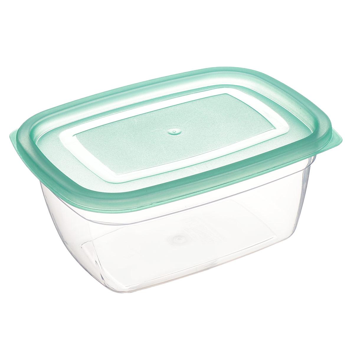 Контейнер Dunya Plastik, цвет: бирюзовый, 0,95 л контейнер dunya plastik цвет синий прозрачный 2 20 л