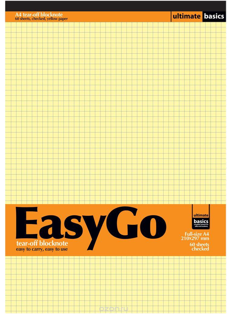 Блокнот NoName Ultimate Basics: Easy Go, 60 листов, цвет: желтый, оранжевый72523WDБлокнот Ultimate Basics: Easy Go формата А4 объединяет блок из 60 листов. Бумага высшего сорта плотностью 70 грамм окрашена в желтый цвет и разлинована в клетку. Классический формат А4 подходит для настольного использования, но благодаря жесткой подложке в конце блокнота, для ведения записей не потребуется твердая поверхность. Все страницы снабжены перфорацией, которая гарантирует аккуратную линию отрыва.