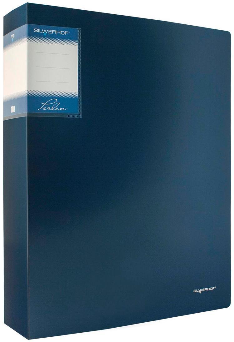 Папка с файлами, 80ф., А4, 1.1мм, PERLEN , карман, Metallic, синяя арт.291980-74 ед.изм.ШтSF208-2/YL/RСерия: PERLEN