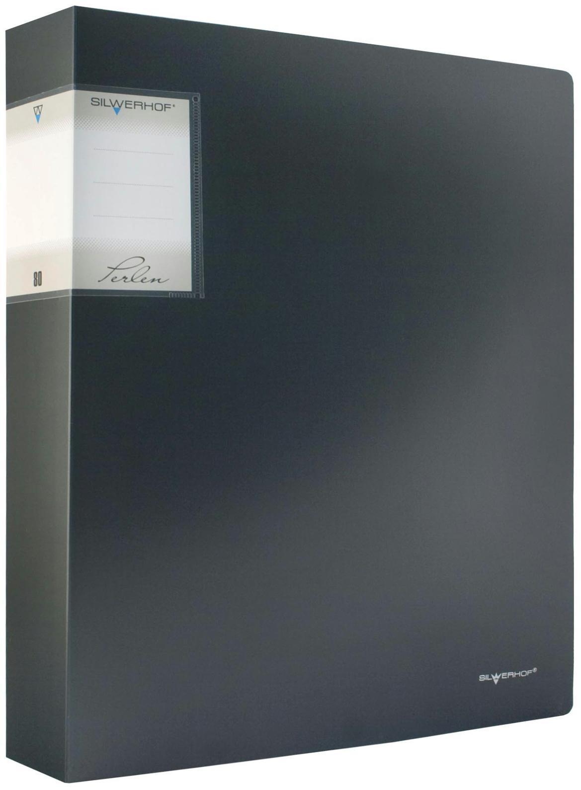 Папка с файлами, 80ф., А4, 1.1мм, PERLEN , карман, мокрый асфальт Metallic арт.291980-76 ед.изм.Шт291980-76Серия: PERLEN