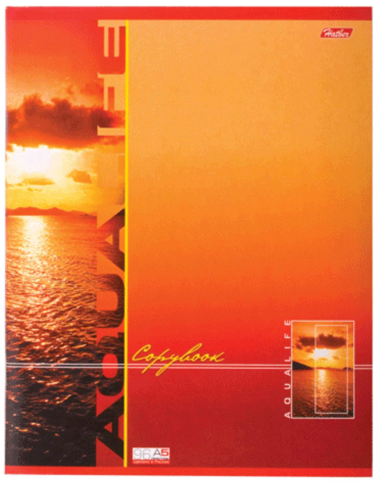Тетрадь 96л А5ф клетка на скобе серия -Аквалайф-, цвет: оранжевый96Т5B1_оранжевая96Т5B1 Тетрадь 96л А5ф клетка на скобе серия -Аквалайф-, цвет: оранжевый