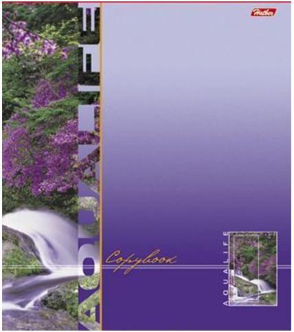 Тетрадь 96л А5ф клетка на скобе серия -Аквалайф-, цвет: фиолетовый80Тдт5B1гр_1126096Т5B1 Тетрадь 96л А5ф клетка на скобе серия -Аквалайф-, цвет: фиолетовый