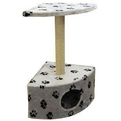 Домик для кошек Пушок, угловой, 43 см х 80 см х 43 см0120710Домик для кошек Пушок, выполненный из искусственного меха, будет прекрасным местом для отдыха, игр и уединения вашей кошки. Благодаря угловой форме, домик для кошки не займет много места в помещении. В домике предусмотрена когтеточка.Когтеточка - один из самых необходимых аксессуаров для кошки.Для приучения к когтеточке можно натереть ее сухой валерьянкой или кошачьей мятой.Когтеточка поможет вашему любимцу стачивать когти и при этом не портить вашу мебель.