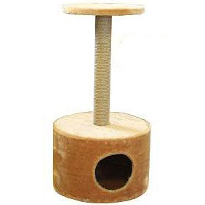 Домик для кошек Пушок, круглый, с когтеточкой, 42 х 42 х 80 см12171996Домик круглой формы, выполненный из искусственного меха, будет прекрасным местом для отдыха и уединения вашей кошки. В домике предусмотрена когтеточка и полочка.Когтеточка - один из самых необходимых аксессуаров для кошки.Для приучения к когтеточке можно натереть ее сухой валерьянкой или кошачьей мятой.Когтеточка поможет вашему любимцу стачивать когти и при этом не портить вашу мебель.