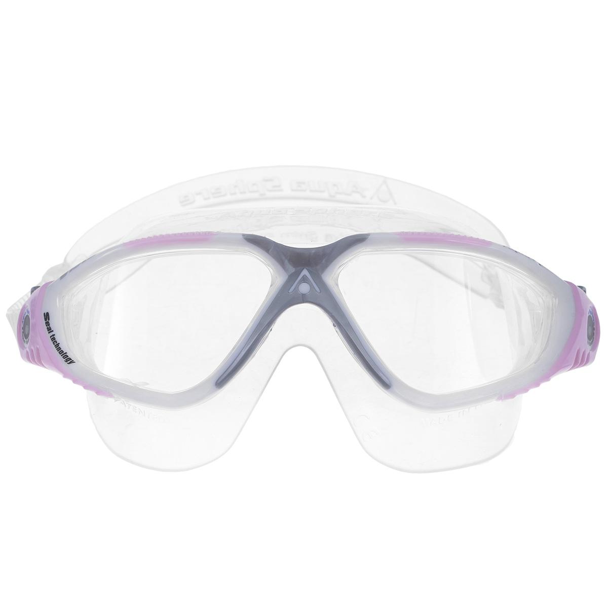 Очки для плавания Aqua Sphere Vista Lady, цвет: белый, розовыйTN 169610Очки Aqua Sphere Vista Lady имеют исключительно малую парусность, что минимизирует вероятность их сползания во время плавания. Кристально прозрачные полукруглые линзы обеспечивают обзор 180°. Очки дают 100% защиту от ультрафиолетового излучения. Специальное покрытие препятствует запотеванию стекол.Материал: силикон, plexisol.