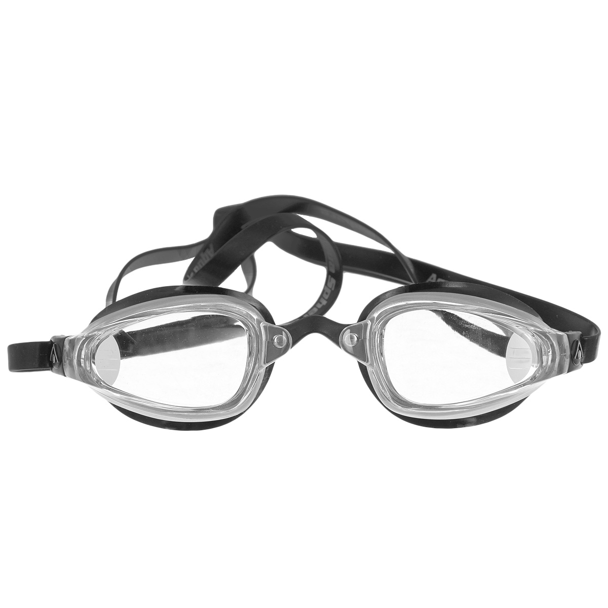 Очки для плавания Aqua Sphere K180, цвет: черный, прозрачныйTN 173000Aqua Sphere K180 - это первые очки для скоростного плавания, обладающие панорамным обзором в 180°, который достигается благодаря очень близкому расположению линз к глазам. Благодаря сменным перемычкам можно менять расстояние между линзами. Очки дают 100% защиту от ультрафиолетового излучения.В комплекте 3 сменных перемычки.
