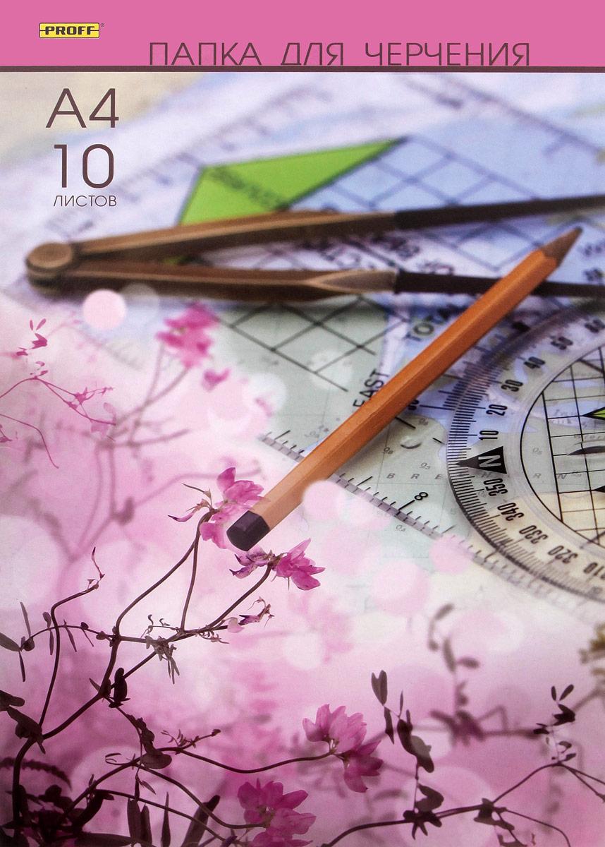 Папка для черчения Proff, формат A4, 10 листов0703415Папка для черчения Proff содержит набор листов ватмана для выполнения чертежно-графических работ карандашами, тушью и чернилами. Листы упакованы в цветную папку из мелованного картона, которая надежно защитит их от повреждений. В набор входят 10 листов.