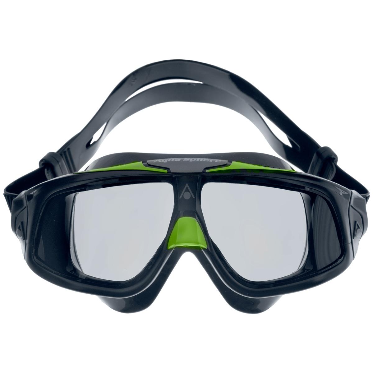 Очки для плавания Aqua Sphere Seal 2.0, цвет: черный, зеленыйJ504N-9093Aqua Sphere Seal 2.0 являются идеальными очками для тех, кто пользуется контактными линзами, так как они обеспечивают высокий уровень защиты глаз от внешних раздражителей, бактерий, соли и хлора.Особая форма линз обеспечивает панорамный обзор 180°. Очки дают 100% защиту от ультрафиолетового излучения. Специальное покрытие препятствует запотеванию стекол.Материал: силикон, plexisol.