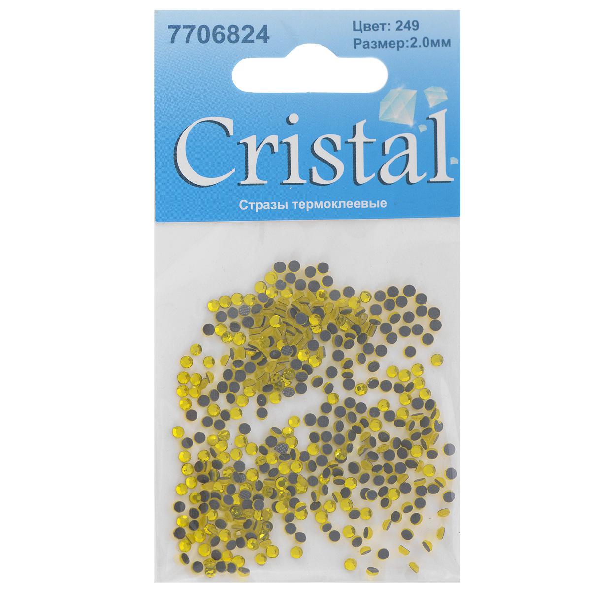 Стразы термоклеевые Cristal, цвет: желтый (249), диаметр 2 мм, 432 штC0042416Набор термоклеевых страз Cristal, изготовленный из высококачественного акрила, позволит вам украсить одежду, аксессуары или текстиль. Яркие стразы имеют плоское дно и круглую поверхность с гранями.Дно термоклеевых страз уже обработано особым клеем, который под воздействием высоких температур начинает плавиться, приклеиваясь, таким образом, к требуемой поверхности. Чаще всего их используют в текстильной промышленности: стразы прикладывают к ткани и проглаживают утюгом с обратной стороны. Также можно использовать специальный паяльник. Украшение стразами поможет сделать любую вещь оригинальной и неповторимой. Диаметр страз: 2 мм.