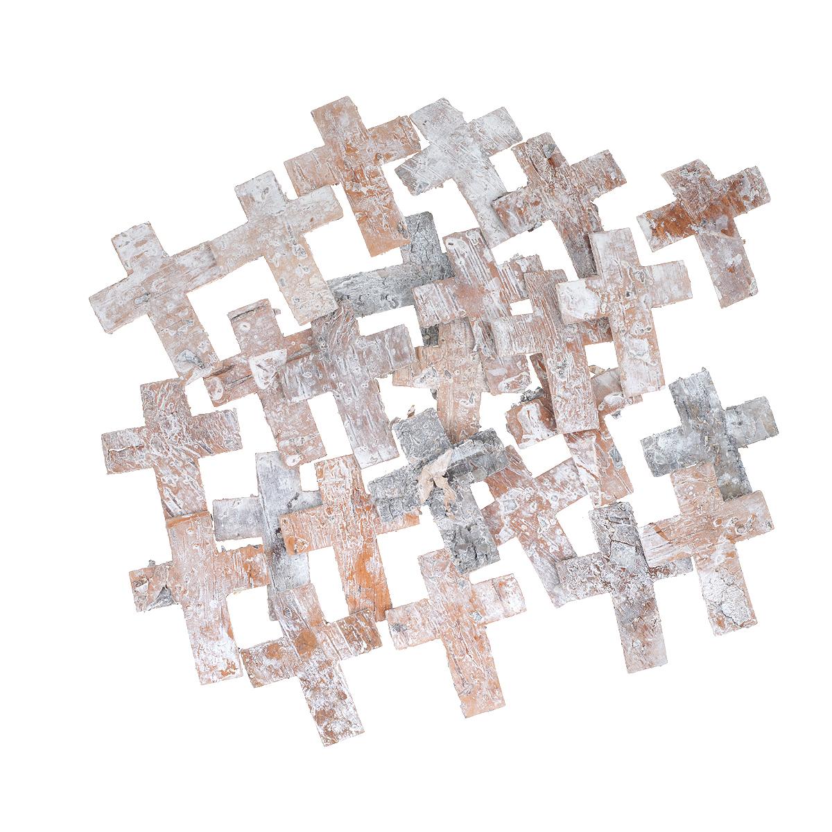 Декоративный элемент Dongjiang Art Крест, цвет: белый, 25 шт09840-20.000.00Декоративный элемент Dongjiang Art Крест, изготовленный из натуральной коры дерева, предназначен для украшения цветочных композиций. Изделие можно также использовать в технике скрапбукинг и многом другом. Флористика - вид декоративно-прикладного искусства, который использует живые, засушенные или консервированные природные материалы для создания флористических работ. Это целый мир, в котором есть место и строгому математическому расчету, и вдохновению.