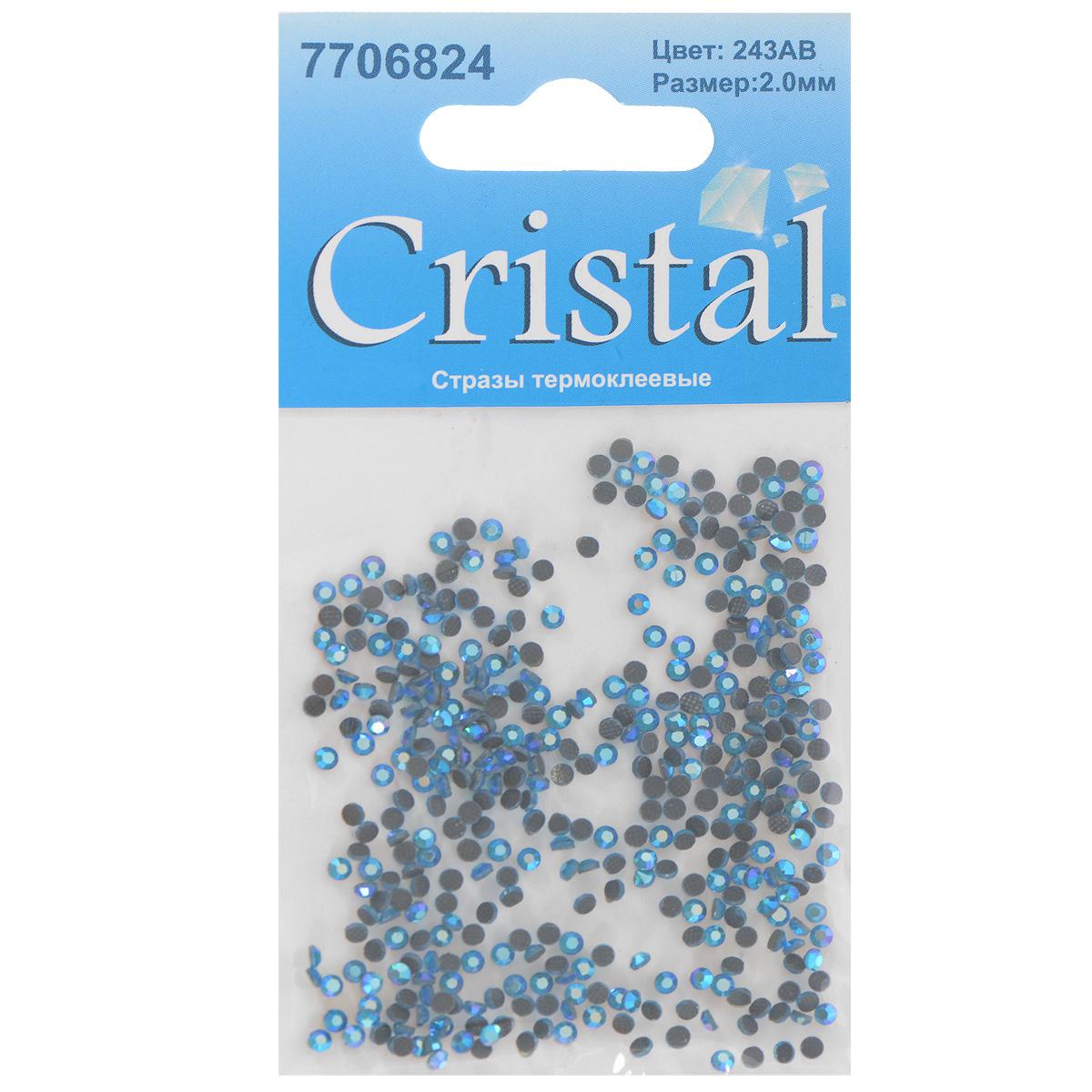 Стразы термоклеевые Cristal, цвет: светло-синий (243АВ), диаметр 2 мм, 432 штIRK-503Набор термоклеевых страз Cristal, изготовленный из высококачественного акрила, позволит вам украсить одежду, аксессуары или текстиль. Яркие стразы имеют плоское дно и круглую поверхность с гранями.Дно термоклеевых страз уже обработано особым клеем, который под воздействием высоких температур начинает плавиться, приклеиваясь, таким образом, к требуемой поверхности. Чаще всего их используют в текстильной промышленности: стразы прикладывают к ткани и проглаживают утюгом с обратной стороны. Также можно использовать специальный паяльник. Украшение стразами поможет сделать любую вещь оригинальной и неповторимой. Диаметр страз: 2 мм.