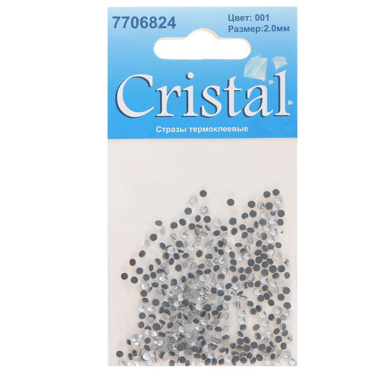 Стразы термоклеевые Cristal, цвет: белый (001), диаметр 2 мм, 432 шт97775318Набор термоклеевых страз Cristal, изготовленный из высококачественного акрила, позволит вам украсить одежду, аксессуары или текстиль. Яркие стразы имеют плоское дно и круглую поверхность с гранями.Дно термоклеевых страз уже обработано особым клеем, который под воздействием высоких температур начинает плавиться, приклеиваясь, таким образом, к требуемой поверхности. Чаще всего их используют в текстильной промышленности: стразы прикладывают к ткани и проглаживают утюгом с обратной стороны. Также можно использовать специальный паяльник. Украшение стразами поможет сделать любую вещь оригинальной и неповторимой. Диаметр страз: 2 мм.