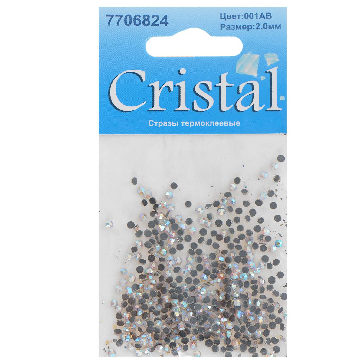 Стразы термоклеевые Cristal, цвет: белый (001АВ), диаметр 2 мм, 432 штNN-612-LS-PLНабор термоклеевых страз Cristal, изготовленный из высококачественного акрила, позволит вам украсить одежду, аксессуары или текстиль. Яркие стразы имеют плоское дно и круглую поверхность с гранями.Дно термоклеевых страз уже обработано особым клеем, который под воздействием высоких температур начинает плавиться, приклеиваясь, таким образом, к требуемой поверхности. Чаще всего их используют в текстильной промышленности: стразы прикладывают к ткани и проглаживают утюгом с обратной стороны. Также можно использовать специальный паяльник. Украшение стразами поможет сделать любую вещь оригинальной и неповторимой. Диаметр страз: 2 мм.