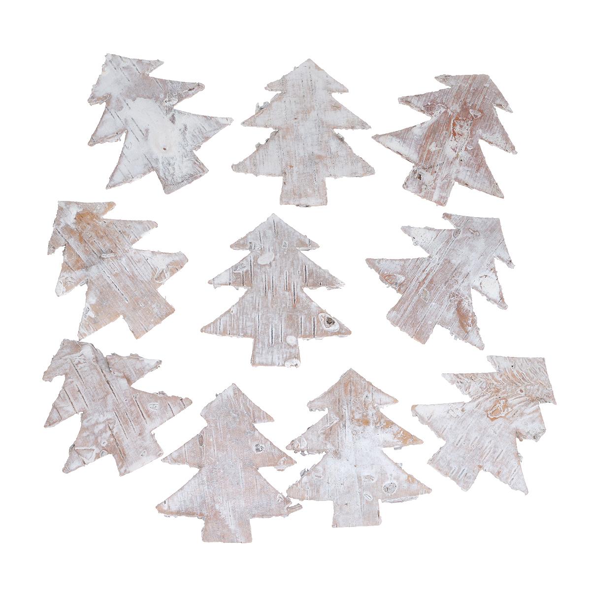 Декоративный элемент Dongjiang Art Елка, цвет: белый, 10 шт55052Декоративный элемент Dongjiang Art Елка, изготовленный из натуральной коры дерева, предназначен для украшения цветочных композиций. Изделие можно также использовать в технике скрапбукинг и многом другом. Флористика - вид декоративно-прикладного искусства, который использует живые, засушенные или консервированные природные материалы для создания флористических работ. Это целый мир, в котором есть место и строгому математическому расчету, и вдохновению.