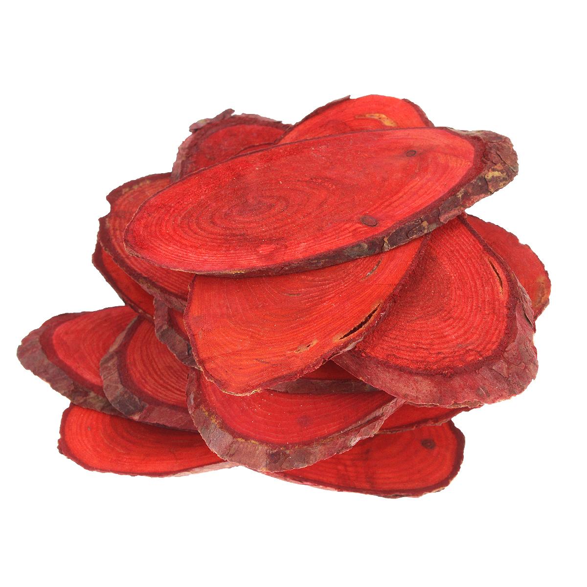 Декоративный элемент Dongjiang Art, цвет: красный, толщина 4 мм, 250 г. 770897955052Декоративный элемент Dongjiang Art, изготовленный из натурального дерева, предназначен для украшения цветочных композиций. Изделие можно также использовать в технике скрапбукинг и многом другом. Флористика - вид декоративно-прикладного искусства, который использует живые, засушенные или консервированные природные материалы для создания флористических работ. Это целый мир, в котором есть место и строгому математическому расчету, и вдохновению.Толщина среза: 4 мм. Средний размер элементов: 4,5 см х 8,5 см.